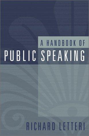 Handbook of Public Speaking   2002 edition cover