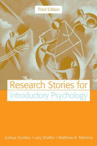 Research Stories for Introductory Psychology  3rd 2008 edition cover