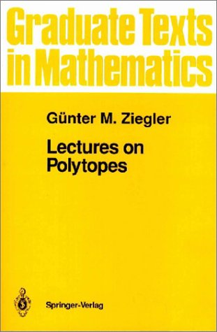 Lectures on Polytopes   1995 (Revised) edition cover