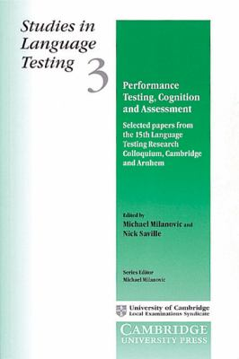 Performance Testing, Cognition and Assessment   1996 9780521484657 Front Cover