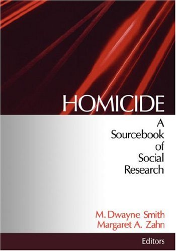 Homicide A Sourcebook of Social Research  1998 edition cover