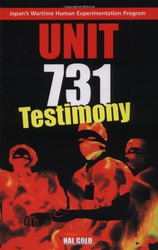 Unit 731 Testimony  2004 edition cover