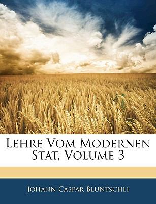 Lehre Vom Modernen Stat  N/A edition cover