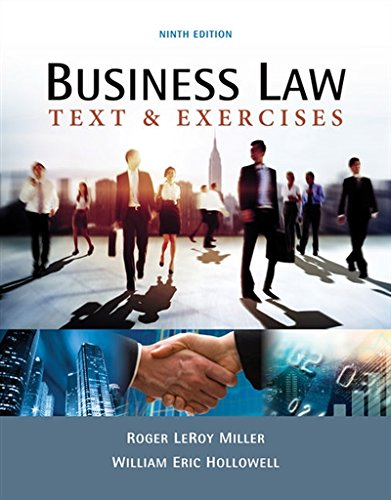 Business Law: Text & Exercises  2018 9781337624657 Front Cover