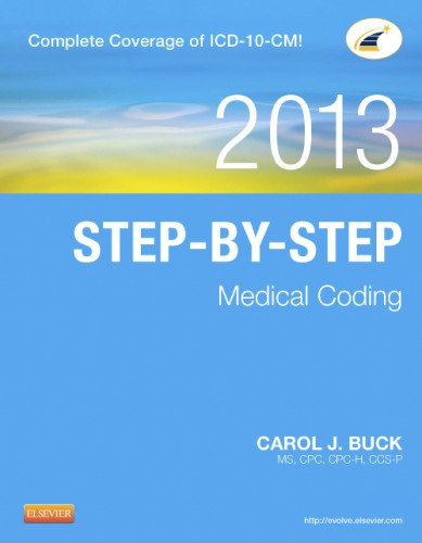 Step-By-Step Medical Coding, 2013 Edition   2013 edition cover