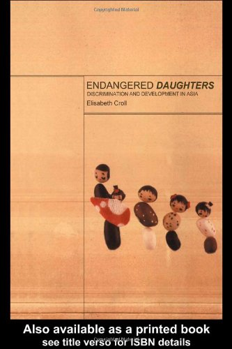 Endangered Daughters Discrimination and Development in Asia  2000 edition cover