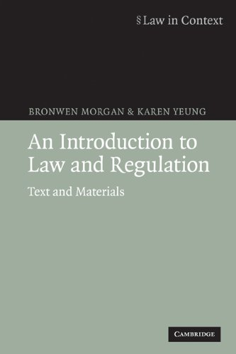 Introduction to Law and Regulation Text and Materials  2007 9780521685658 Front Cover