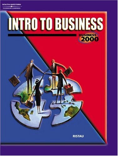 Intro to Business   2001 9780538698658 Front Cover