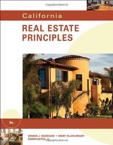 California Real Estate Principles  9th 2011 9780538739658 Front Cover