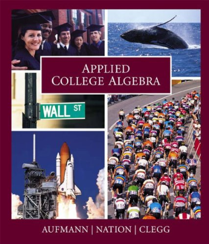 Applied College Algebra   2004 9780618073658 Front Cover