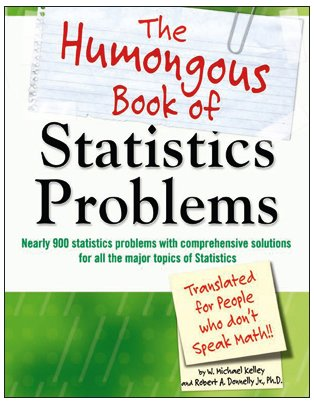 Humongous Book of Statistics Problems   2009 edition cover