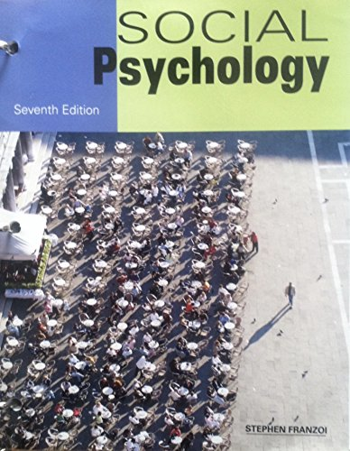 SOCIAL PSYCHOLOGY (LOOSELEAF)           N/A 9781627515658 Front Cover