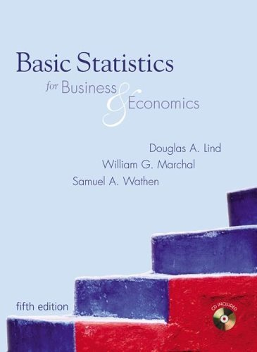 Basic Statistics for Business and Economics  5th 2006 edition cover