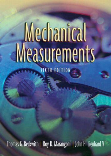 Mechanical Measurements  6th 2007 (Revised) edition cover