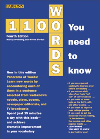 1100 Words You Need to Know 4th 2000 edition cover