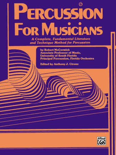 Percussion for Musicians   1985 edition cover
