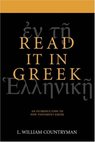Read It in Greek An Introduction to New Testament Greek  1993 edition cover