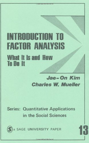 Introduction to Factor Analysis What It Is and How to Do It  1978 edition cover