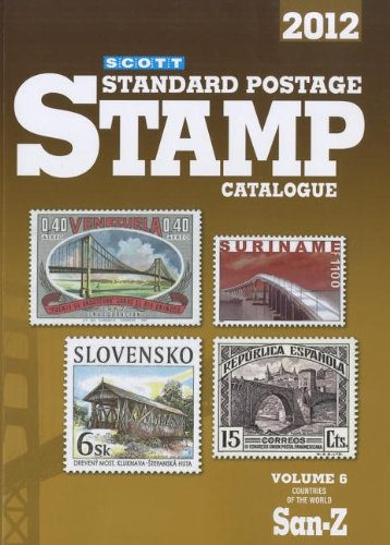 Scott Standard Postage Stamp Catalogue 2012 Countries of the World San-Z 168th 2011 edition cover