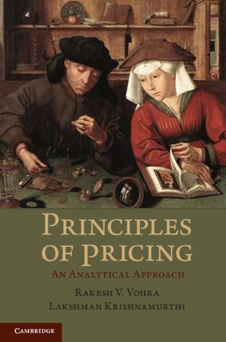 Principles of Pricing An Analytical Approach  2011 edition cover