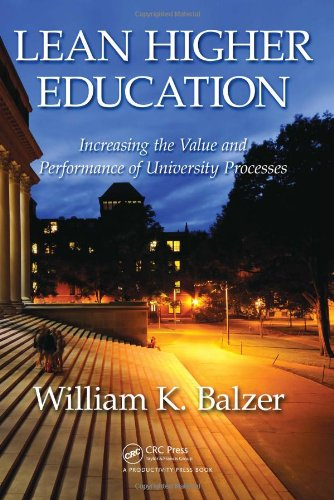 Lean Higher Education Increasing the Value and Performance of University Processes  2010 edition cover