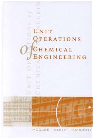 Unit Operations of Chemical Engineering  6th 2001 edition cover