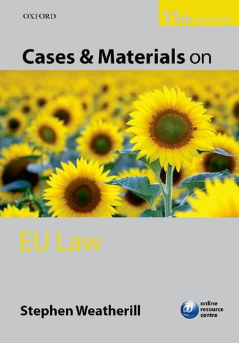 Cases and Materials on EU Law  11th 2014 9780199685660 Front Cover
