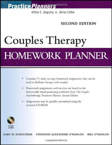 Couples Therapy Homework Planner  2nd 2010 (Brief Edition) edition cover