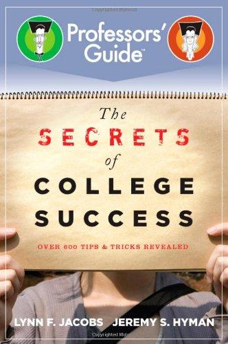 Secrets of College Success   2010 edition cover