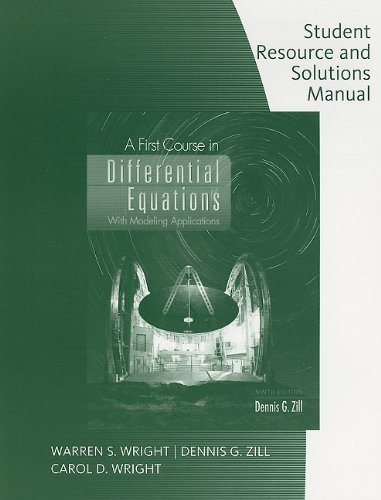 First Course in Differential Equations  9th 2009 (Student Manual, Study Guide, etc.) edition cover