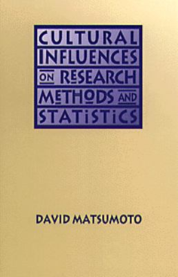 Cultural Influences on Research Methods and Statistics 1st 1994 9780534237660 Front Cover