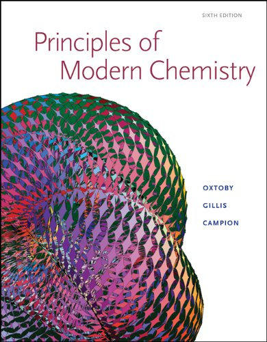 Principles of Modern Chemistry  6th 2008 9780534493660 Front Cover