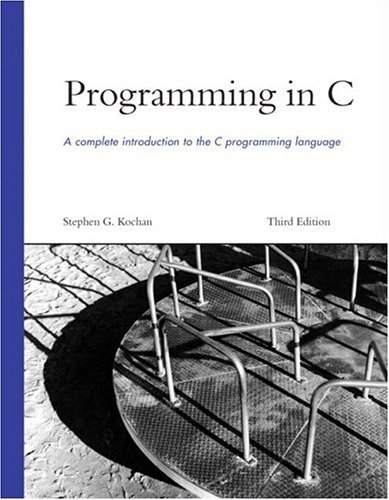 Programming in C  3rd 2005 (Revised) edition cover