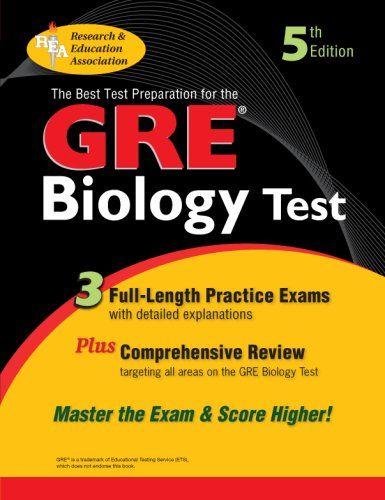 GRE Biology (REA) The Best Test Prep for the GRE Biology 5th (Revised) 9780738602660 Front Cover