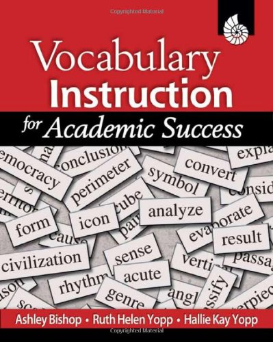 Vocabulary Instruction for Academic Success   2008 (Revised) edition cover