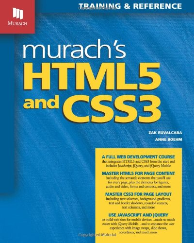 Murach's HTML5 and CSS3   2011 edition cover