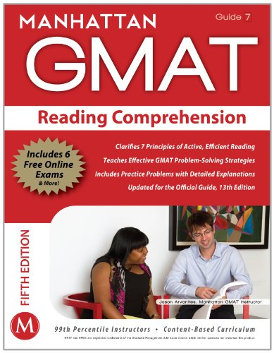 Reading Comprehension GMAT Strategy Guide, 5th Edition  5th (Revised) edition cover