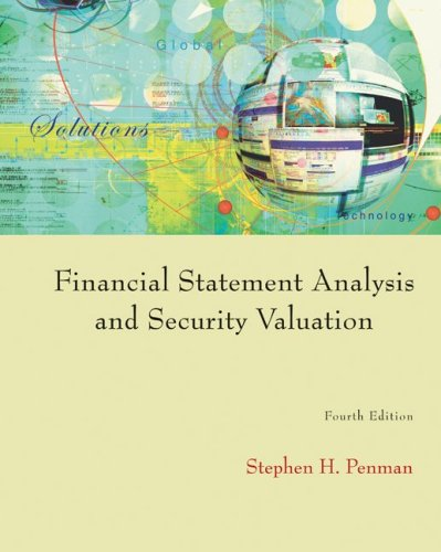 Financial Statement Analysis and Security Valuation  4th 2010 9780073379661 Front Cover