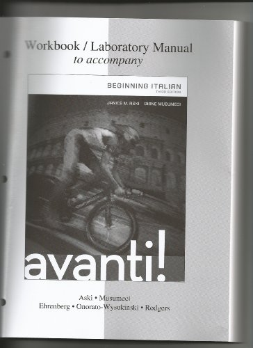 Workbook/laboratory Manual for Avanti  3rd 2014 edition cover