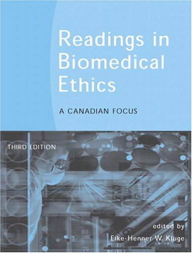 READINGS IN BIOMED.ETHICS:CANA 3rd 2005 edition cover