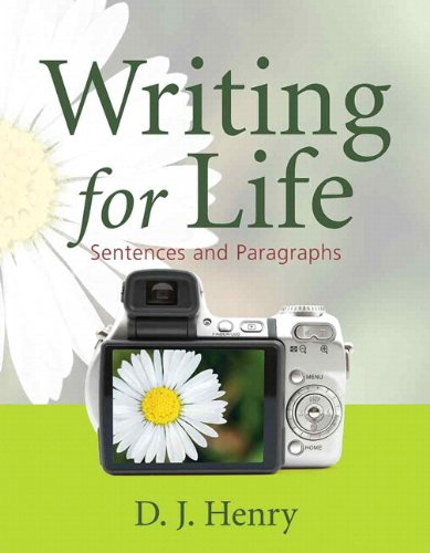 Writing for Life Sentences and Paragraphs  2011 edition cover