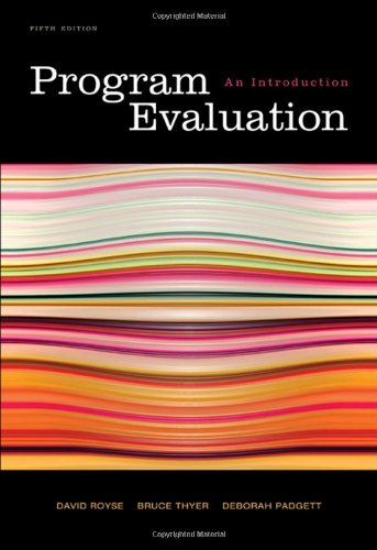 Program Evaluation An Introduction 5th 2010 9780495601661 Front Cover