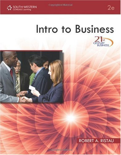 Intro to Business  2nd 2011 9780538740661 Front Cover