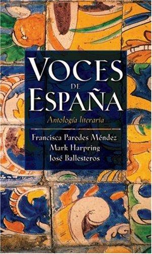 Voces de Espana Antologia Literaria  2005 edition cover