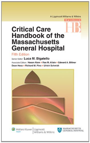 Critical Care Handbook of the Massachussetts General Hospital  5th 2010 (Revised) edition cover