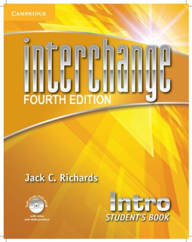 Interchange Intro Student's Book with Self-Study DVD-ROM  4th 2012 (Student Manual, Study Guide, etc.) edition cover