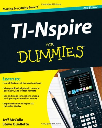 TI-Nspire for Dummies�  2nd 2011 edition cover