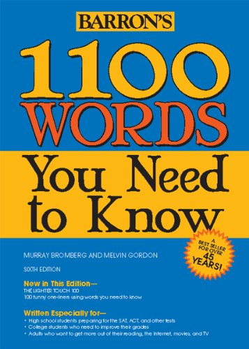 1100 Words You Need to Know  6th 2013 (Revised) edition cover