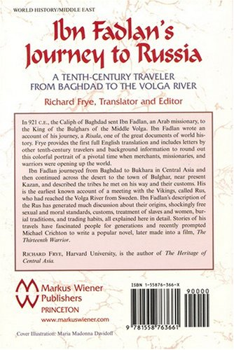 Ibn Fadlan's Journey to Russia A Tenth-Century Traveler from Baghad to the Volga River  2006 edition cover