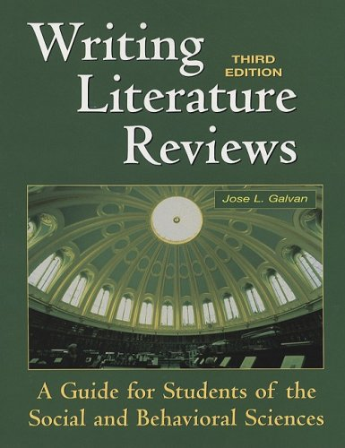 Writing Literature Reviews-3rd Ed A Guide for Students of the Social and Behavioral Sciences 3rd 2006 (Revised) edition cover